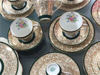 Royal Grafton 6 place Gold patterned Afternoon Tea set Bone China