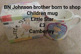 "Brand New in box Johnson Brother born to shop children mug ""Little Star"""