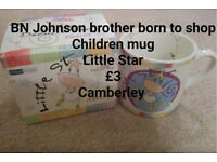 "Brand New in box Johnson Brother born to shop children mug ""Little Star"""