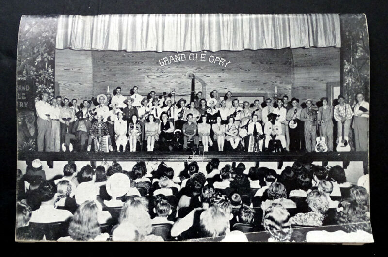 1945 Vintage GRAND OLE OPRY Photo History Book / BILL MONROE Ernest Tubb