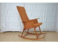 Vintage DANISH ROCKING Armchair Design Midcentury Loft Modern