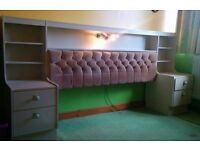 Headboard for double bed with cupboards
