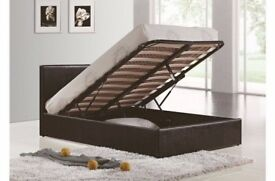 SAME DAY FAST DELIVERY! BRAND NEW DOUBLE/KING GAS LIFT OTTOMAN STORAGE BED WITH MEMORY FOAM MATTRESS