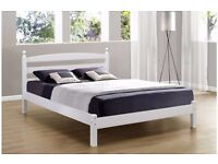 "Classic White Bedframe 4ft 6"" Brand New"