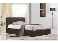 *No Delivery Charges*Faux Leather Single Double & King Size Storage Bed Frame with Mattresses Choice