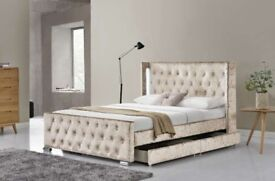 LED Wingback bed