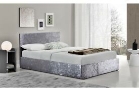 Berlin fabric ottoman storage bed