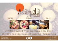 FULL TIME WAITING FRONT OF HOUSE STAFF - AWARD WINNING A CAPPELLA PIZZERIA. PERMANENT POSITION