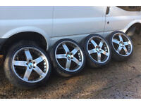 Lovely Set of 20 inch BMW VW T4 T5 Ace Zeus Alloy Wheels and Tyres x4 Cost £1500
