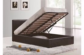 massive storage space-----Brand New Double Gas Lift Storage Bed With 2000 Pocket Sprung Mattress