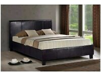⭐️🌟✨Supereme Discount⭐️🌟✨(4ft6inch) Double & (5ft)King Size Leather Bed Frame W Opt Mattress