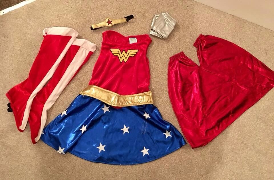 Girls Wonder Woman Costume with Accessories