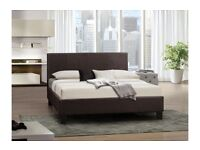 *** SPECIAL OFFER *** BRAND NEW BERLIN FABRIC DOUBLE BED WITH MATTRESS FAST DELIVERY