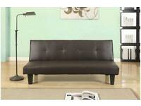 Sofa bed brown 3 seater new