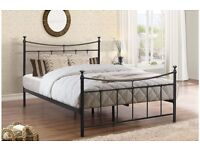 Black Metal 4'0 Small Double Bed Frame