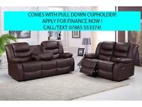 sofa recliner leather 3 plus 2 seater