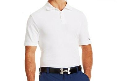 Under Armour Performance Medal Play Polo White Size M LF089 BB 15