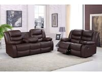 MADRID 3 AND 2 SEATER RECLINER SOFA - FREE DELIVERY