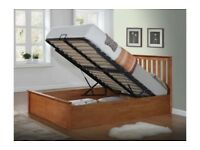 💗🔥💗🔥DELIVERY IS FREE💗💥💗💥 BRAND NEW DOUBLE /KING WOODEN OTTOMAN GAS LIFT STORAGE BED+MATTRESS