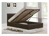 🔵💖🔴more at less price🔵💖DOUBLE/KING SIZE LEATHER STORAGE BED FRAME WITH OPTIONAL MATTRESS