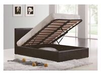 💡Furniture free💡DOUBLE AND KING SIZE LEATHER STORAGE BED FRAME WITH OPTIONAL MATTRESS-CALL NOW
