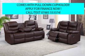 recliner sofa 3 plus 2 seat leather