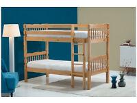 Birlea Weston 3ft Single Wooden Bunk Bed, Solid Pine