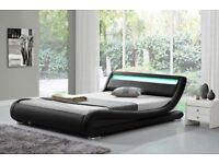 Rio LED Designer Bed Leather Frame