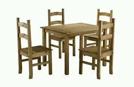 Corona table and 4 chairs