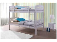 🎆💖🎆EASY TO ASSEMBLE🎆💖🎆SINGLE-WOODEN BUNK BED FRAME w OPT MATTRESS- GRAB THE BEST