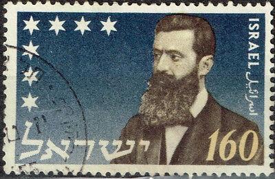 Israel Famous Zionism Founder Theodor Herzl 100 Birthday Stamp 1950