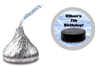HOCKEY DESIGN PERSONALIZED HERSHEY KISS LABELS STICKERS BIRTHDAY PARTY