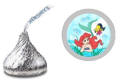 The Little Mermaid Party Favors (108 The Little Mermaid ARIEL HERSHEY KISS LABELS STICKERS BIRTHDAY PARTY)
