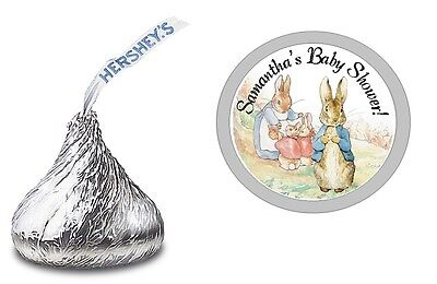PETER RABBIT PERSONALIZED HERSHEY KISS KISSES LABELS BABY SHOWER PARTY FAVORS](Peter Rabbit Party Supplies)