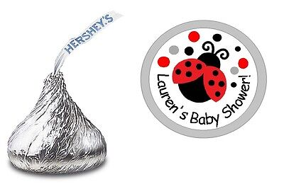 LADYBUG LADY BUG HERSHEY KISS KISSES LABELS STICKERS BABY SHOWER PARTY FAVORS