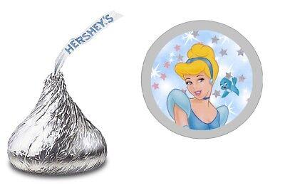 108 Disney CINDERELLA HERSHEY KISS LABELS STICKERS BIRTHDAY PARTY FAVORS (Cinderella Birthday)