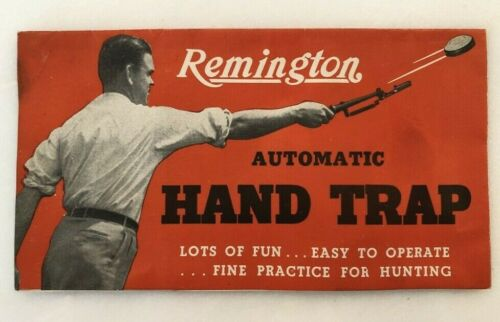1940s REMINGTON Hand Trap SHOTGUN Vintage Advertising Brochure Hunting Gun