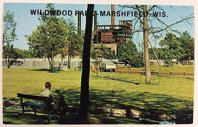Wildwood Park Marshfield, Wisconsin Weston Power Plant Chrome Postcard Unused ()