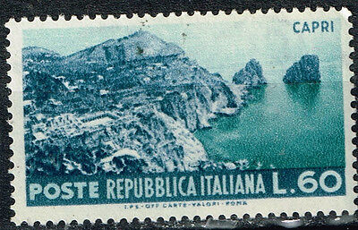 Italy Island of Capri view stamp 1952 MNH