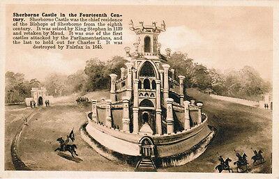 Sherborne Castle 14 Century English Architecture Postcard PC Unused England
