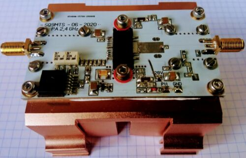 2,4GHz QO-100 - Es´Hail  PA - Amplifier, inp 10dBm - out 40dBm, max out 43dBm