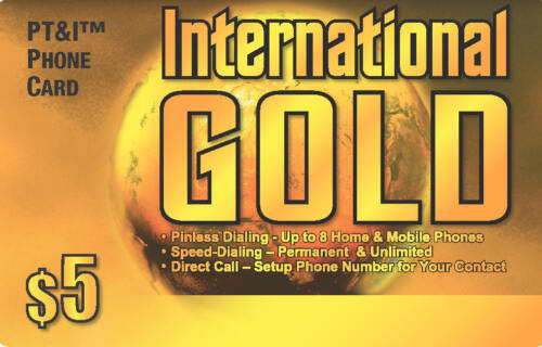 Internatinal $5 Calling Card with 250 Minutes of US 48 States - e-delivery