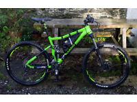 "2017 Voodoo Zobop mountain bike. 18"" frame, 27.5"" wheels, 140mm full suspension, FS. Hardly used"
