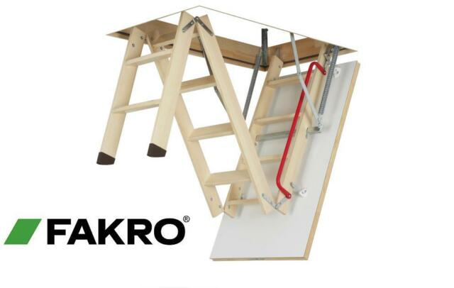 LWK 60x94 FAKRO COMFORT wooden 4-section LOFT LADDER