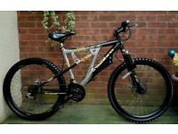 "Sabre XR-100 mountain bike,26""wheels,21 speed,dual discbrakes,dual suspension"