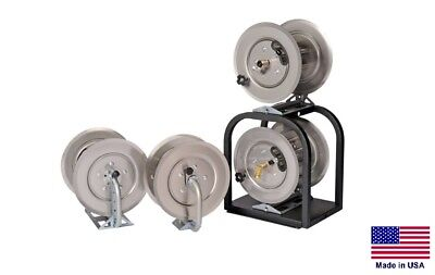Pressure Washer Sprayer Stackable Hose Reels - 2 High Pressure Reels