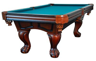 8 foot POOL TABLE with BALL & CLAW LEG in WALNUT by BERNER B