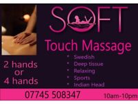 Deep Tissue and Relaxing massages by 2 hands or 4 hands