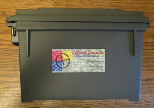 Practical Geocaching® – 12 Official Geocache Labels - STEALTH  GX Logo