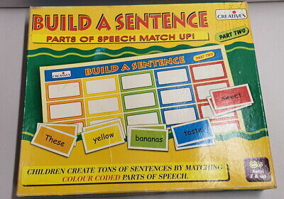 Creatives Build A Sentence Part 2 Ages 7+ Game Colour Coded Boxed Educational
